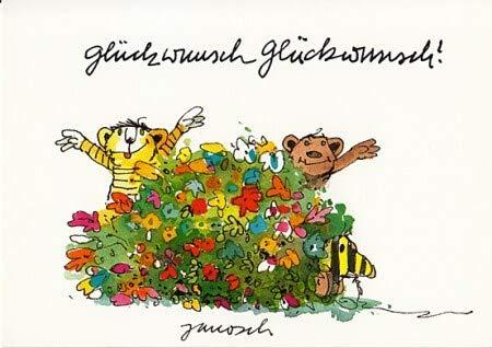 Janosch Postkarte Glückwunsch Glückwunsch