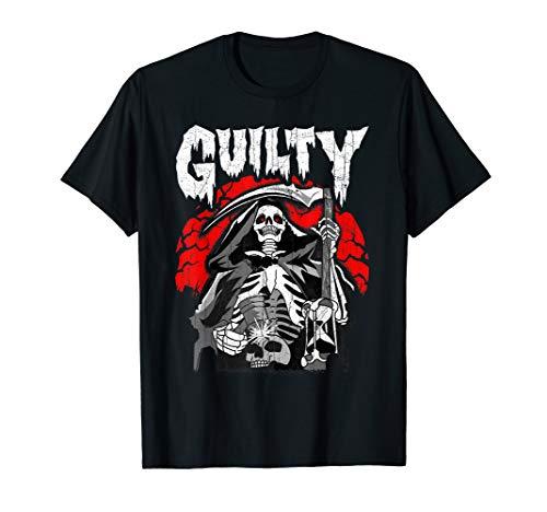 Der schuldige Sensenmann blickt in die Sanduhr T-Shirt