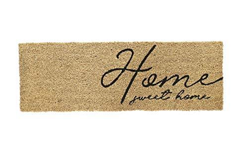 Dream Hogar Felpudo Fibra Coco Natural PVC 75x25cm (CASA)