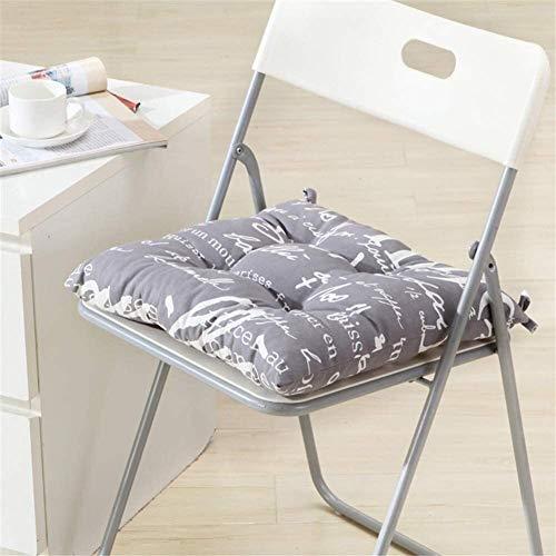 Cojines para sillas Silla sencilla Toallita de algodón Comedor impresión en silla suave del amortiguador Jardín Espesar del amortiguador de asiento del asiento transpirable al aire libre cojín no se d