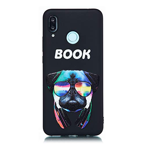 Coque [Ultra Slim] [Anti-Scratch ]Antidérapan Flexible 3D Premium Modèle Conception TPU Silicone Soft Crystal Gel Etui Housse de Protection Bumper pour Huawei P Smart Plus/Huawei Nova 3i