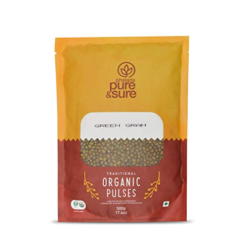 Pure & Sure Organic Green Gram Whole, 500g