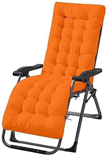 Wangle - Cuscino per sedia a dondolo da giardino, patio, salotto, esterno, reclinabile, colore: arancione
