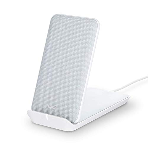 Smpl Soporte de Carga inalámbrico - Cargador inalámbrico, 10W, Certificación Qi, Compatible con iPhone 12/12 Pro/11/XS Max/XR/XS/X/8/8+, Samsung Galaxy S10/S10+/S10E/S9+/S9/S8/S8+/S7 - Blanco