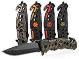 3-in-1 Army & Military Tactical Knife for First Responders with Glass Breaker, Seatbelt Cutter and...