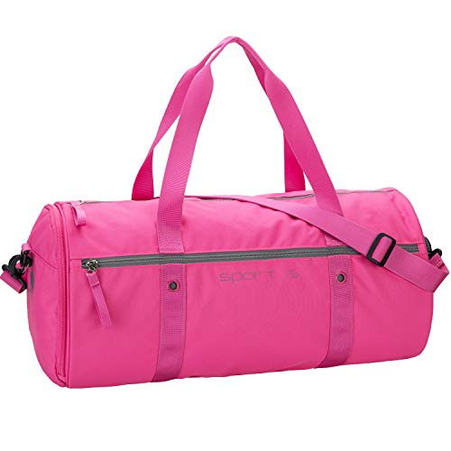 OIWAS Sporttasche Klein Rosa Pink Herren Damen Kinder Tasche mit schuhfach Reisetasche Handgepäck Trainingtasche Krankenhaustasche Kliniktasche Weekender 25L