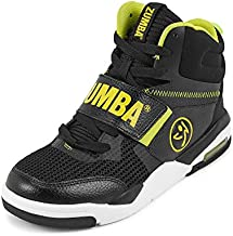 Zumba Air Classic Remix High Top Gym Shoes Dance Fitness Workout Shoes for Women, Black 1, 13