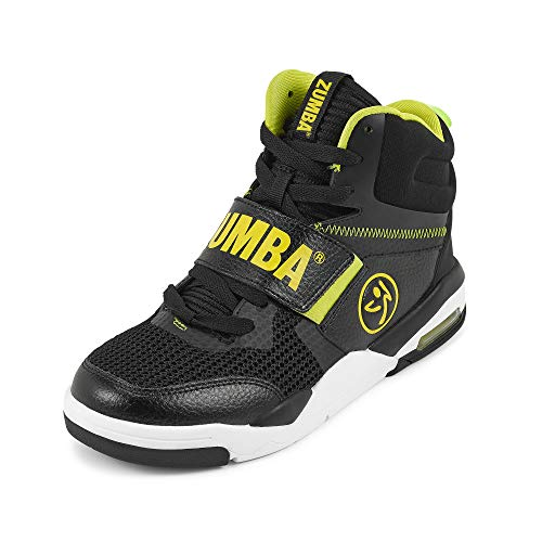 Zumba Air Classic Remix High Top Gym Shoes Dance Fitness Workout Shoes for Women, Black 1, 5
