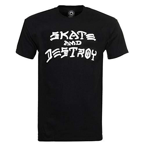 Thrasher Skateboard Magazine Skate and Destroy t-shirt nera piccola