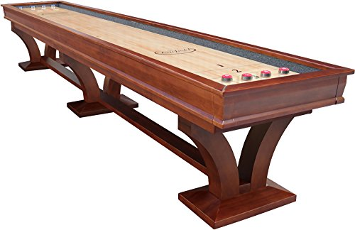 Playcraft Columbia River Chestnut Pro-Style Shuffleboard Table, 14'
