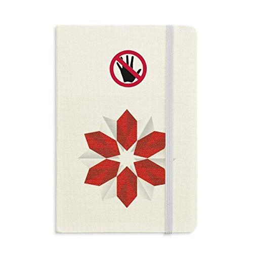 Diario clásico de flores de origami, A5