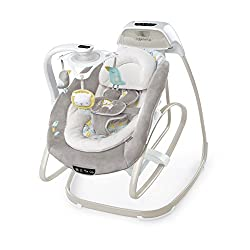 Ingenuity SmartSize 2-in-1 Soothing Solution - Compact Baby Swing