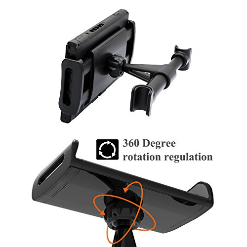 Car Headrest Mount for Nintendo Switch, Adjustable Car Holder for Nintendo Switch/iPhone/iPad and Other Tablets (4