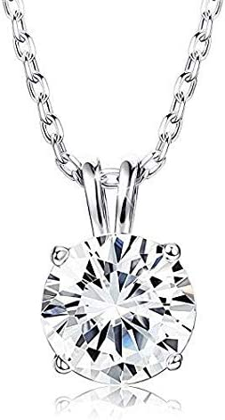 GIVA 925 Sterling Silver Classic Zircon Solitaire Pendant With Chain   Necklace for Women & Girls   With Certificate ...