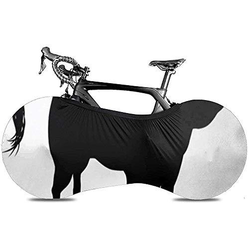 L.BAN Enveloppe de Roue de vélo Sweet-Heart, Protéger Le Pneu d'engrenage - Horoscope Boeuf Haute Détaillée Bull Cow Tatoo Action Veau Noir Veau Bovins Charge Contour