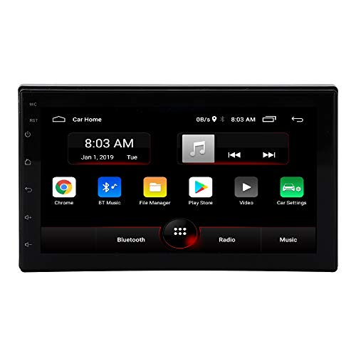 Auto Snap 7 inch Screen Android 10.1 with Gorilla Glass IPS Display Universal Car Stereo with Bluetooth/WiFi/Navigation & USB Touch Screen Full Hi-Definition 1080p (1GB RAM/16GB ROM)