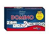 Noris 606108003 606108003-Deluxe Doppel 9 Domino, Spieleklassiker -