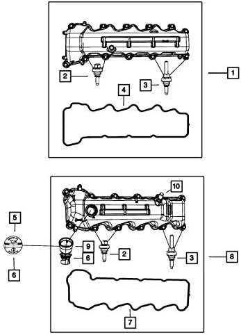 Details about  /For 2008-2009 Dodge Durango Valve Cover Left Mopar 59638GN Engine Valve Cover