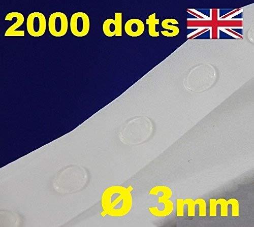 Glue Dots – Klebepunkte, transparent, zur Kartengestaltung / Scrapbooking, wiederablösbar, 3mm, 2000 Stück