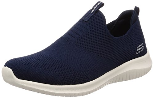 Skechers Women's Ultra Flex-First Take Slip On Trainers, Blue (Navy), 7 UK 40 EU