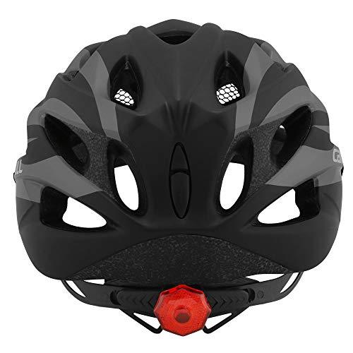 Cairbull Casco da bicicletta per bambini adulti con schermo integrato per insetti, visiera e fanale posteriore da uomo e donna ciclismo sport da strada casco M e L