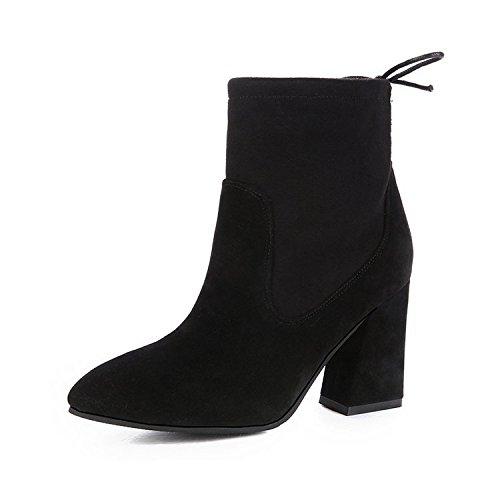 Shukun laarzen, herfst, Martin laarzen, voor dames, dik, met suède, kant, hoge hakken, modieus