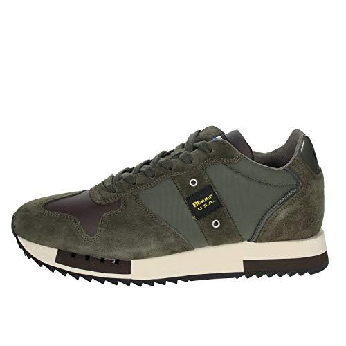Blauer. U.s.a. Foqueens01/tas Sneakers Uomo Verde/t.Moro 43