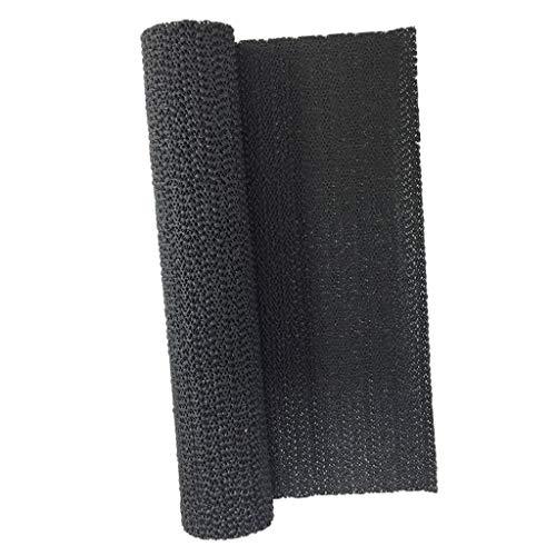 HomeDecTime Einlegematte Schubladeneinlage Zuschnitt Antirutschmatte Schubladenmatte, 30x150 cm, schwarz und blau - Schwarz