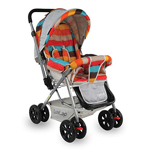 LuvLap Sunshine Stroller/Pram, Easy Fold, for Newborn Baby/Kids, 0-3 Years (Multicolor)