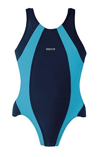 Beco Kinder Badeanzug-Basics Schwimmkleidung, Marine/Türkis, 140