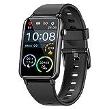NAIXUES Smartwatch, IP68 Orologio Fitness Uomo Donna da 1.57 Pollici Cardiofrequenzimetro SpO2, Smart Watch Bluetooth con Notifiche Messaggi Activity Tracker Contapassi Calorie per Android iOS (Nero)