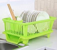 Manki fashion New draining Tray Dish Drainer Drying Rack Tray Sink Holder Basket Knife Sponge Fork Holder Dish Rack for...