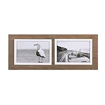 UMICAL 4x6 Picture Frame 2-Opening Distressed Wood Collage Picture Frames Vintage Style Wood Photo Frames with Real Glass for Table Top Stand or Wall Hanging