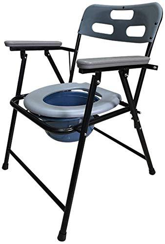 LXYZ Badestuhl, ältere Töpfchen Rückenlehne ANWENDBARKEIT Bequeme Aufbewahrung Klappstuhl Toilettenschüssel stärkere Schwangere Töpfchenstühle