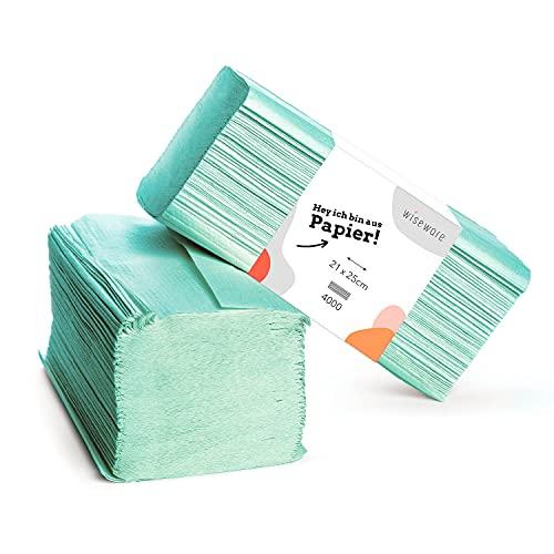 Wiseware Papierhandtücher grün -...