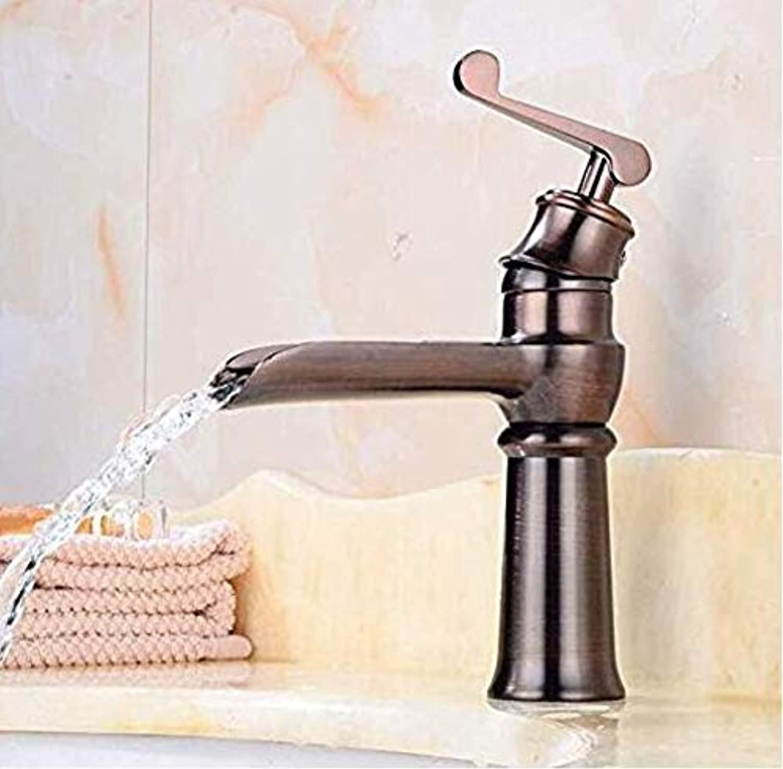 Verchromte Einstellbare Temperaturempfindliche Led-Wasserhahn Warme Und Kalte Wasserhahn Retro Europischen Waschbecken Wasserfall Wasserhahn