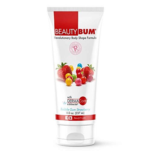 BeautyFit BeautyBum Anti Cellulite skin tightening cream for Women (Bubble Gum (with Dermacore) 8 oz)