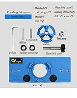 KEKEYANG 15〜35ミリメートルカップスタイルヒンジジグボーリング穴ドリルガイドフォスナードリルドア穴テンプレートウッドカッター木工ツール (Color : Normal blue)