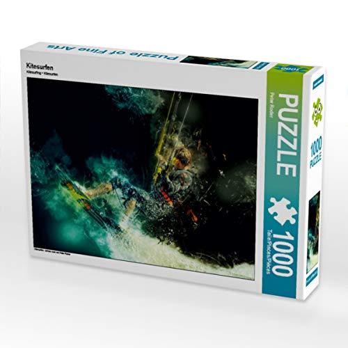 CALVENDO Puzzle Kitesurfen 1000 Teile Lege-Größe 64 x 48 cm Foto-Puzzle Bild von Peter Roder