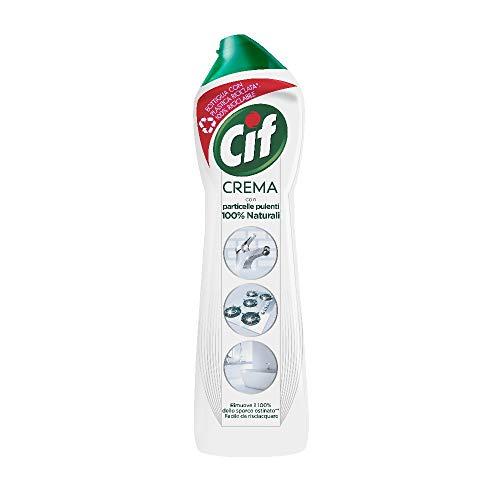Cif Crema blanca limpiadora para superficies duras, 500 ml