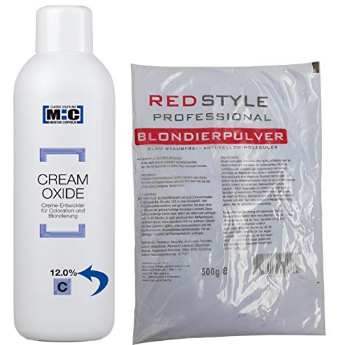 M:C MEISTER COIFFEUR [ CREAM OXIDE 12% ] - 1000ml + 500g Blondierpulver