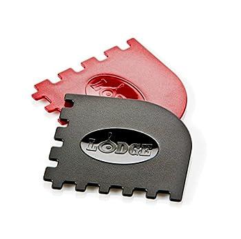 Lodge SCRAPERGPK Durable Grill Pan Scrapers Red and Black 2-Pack