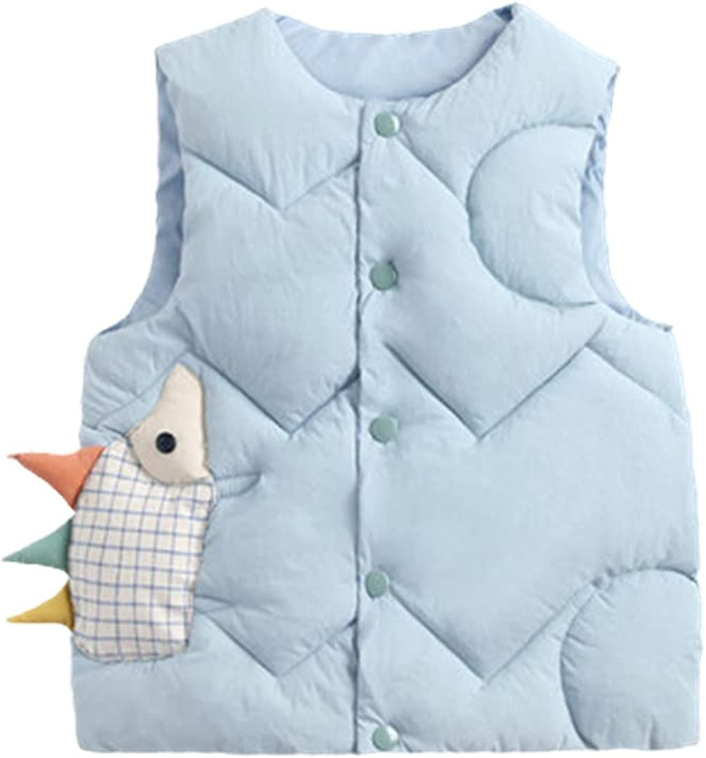 FLZS Children Vests Warm Waistcoats for Boys & Girls Thick Down Vests Jacket Outwear