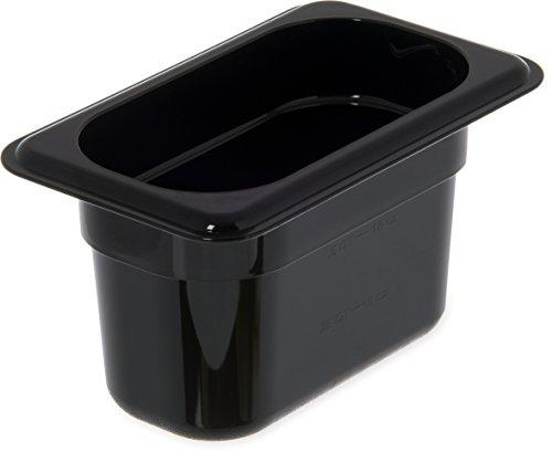 New Carlisle 3088703 StorPlus High Heat Food Pan, 4 Deep, Ninth Size, Black