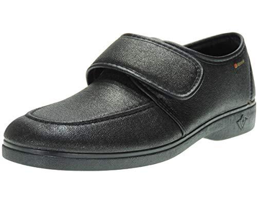 ALBEROLA Zapatilla Cuerofil Cerrada con Velcro Confortable y de Calle para Hombre Negro Talla 43
