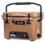 Milee- Heavy Duty Cooler 20QT Tan (Included $28.0 Accessories) Basket and Cup Holder are Free