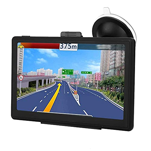 GXXDM Navegador GPS para camión de 7 Pulgadas, Pantalla LCD portátil de 7 Pulgadas, Voz Real, Mapa Gratuito de Alta sensibilidad con 30 Idiomas conmutables