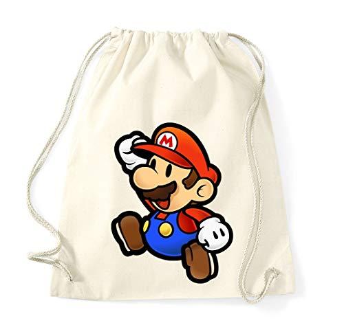 TRVPPY Baumwolltasche Turnbeutel Tasche Modell Mario - Beige