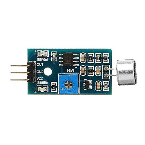 L-YINGZON 5Pcs Voice Detection Sensor Module Sound Recognition Module High Sensitivity Microphone Sensor Module DC 3.3V-5V Driver Modules