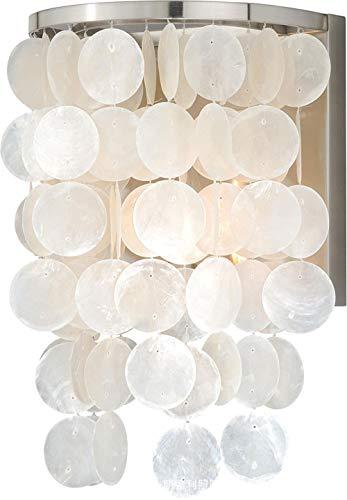 Moderne wandlamp voor hotelkamer, Europees en Amerikaans, voor gebruik buitenshuis, hal, slaapkamer, restaurant, schelpen, wandlamp, 13 x 27 x 16 cm